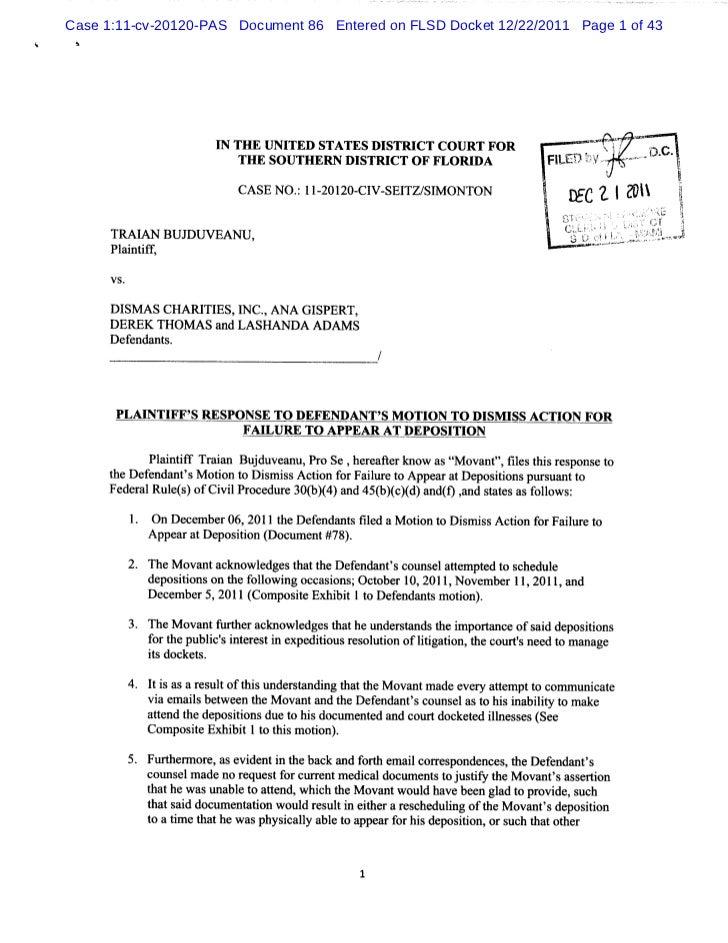 Case 1:11-cv-20120-PAS Document 86 Entered on FLSD Docket 12/22/2011 Page 1 of 43 h                       I THE I NI      ...