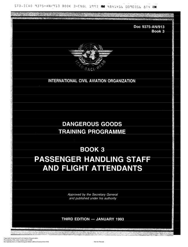 Doc 9375 dangerous goods trainning programme book 3