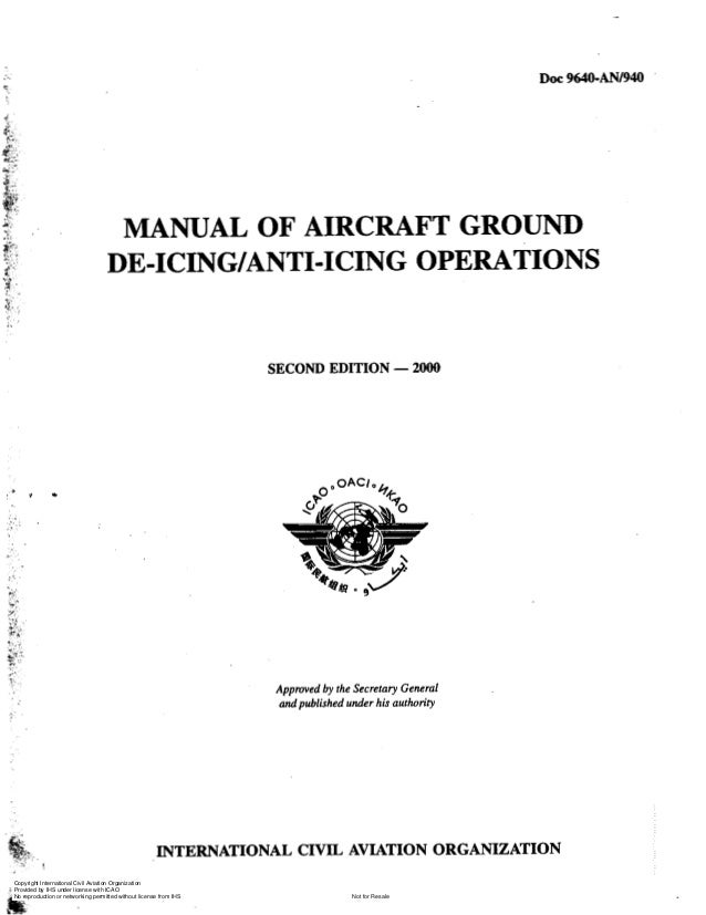 ..  DOC 964O-ANI94O  c  , .. ,  j;,. i  .  @ , I.:.  -. .. .. . I  i -  v.,  $ ..  MANUAL OF AIRCRAFT GROUND DE-ICING/ANTI...