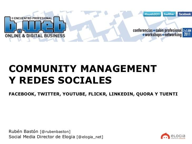 El Community manager y las redes sociales