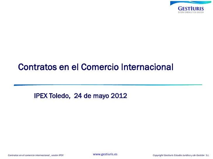 Contratos en el Comercio Internacional