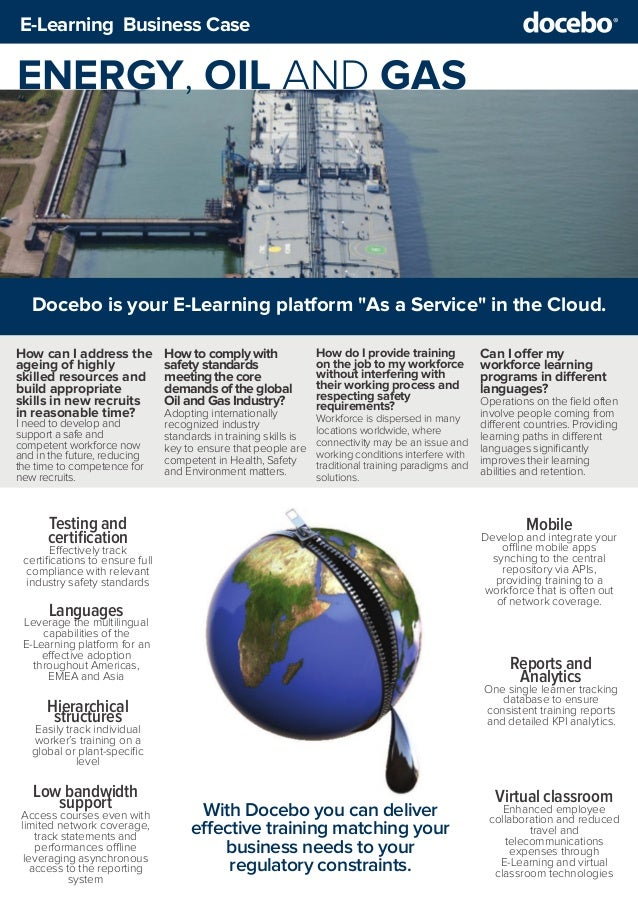 Business Case - Using E-Learning for Energy, Oil & Gas training