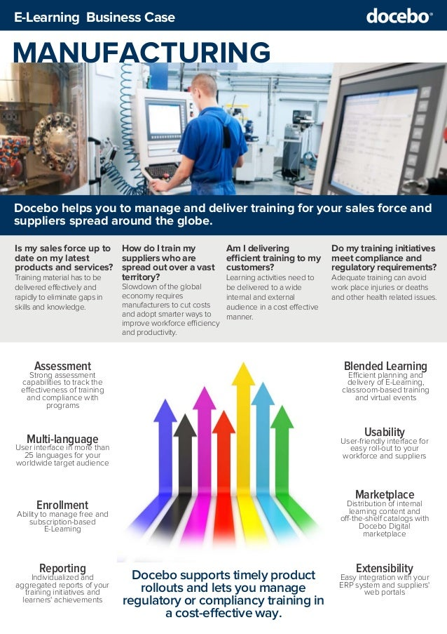 Business Case - Using E-Learning for Manufacturing training