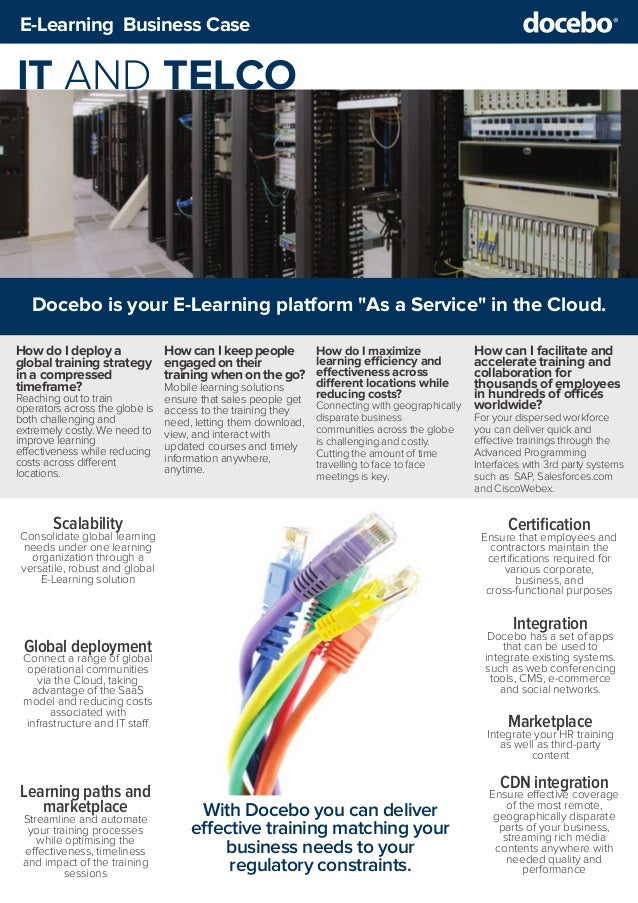 Business Case - Using E-Learning for IT & Telco training