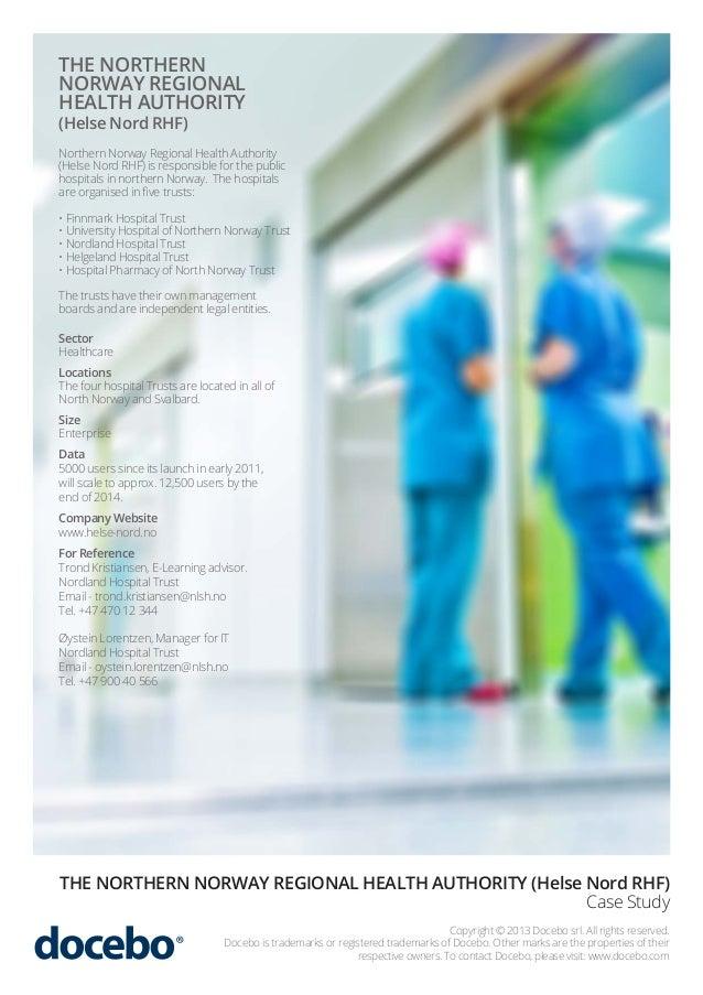 Healthcare E-Learning Case Study   Docebo & Helse Nord RHF