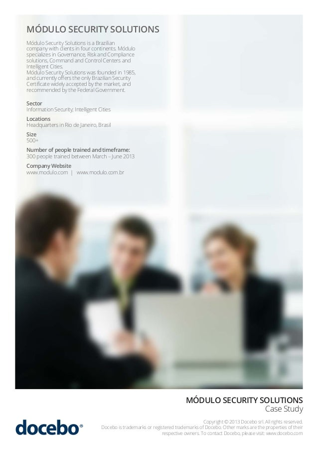 Information Security E-Learning Case Study | Docebo & Modulo