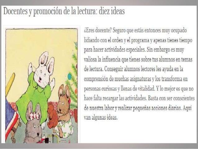 Recuperado de: http://anatarambana.blogspot.mx/2013/04/docentes-ypromocion-de-la-lectura-diez.html#more  BEATRIZ E. MORALE...