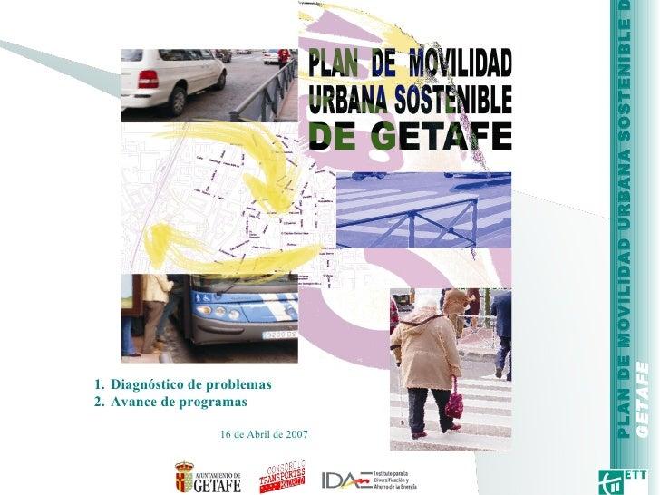 Plan de movilidad sostenible de Getafe