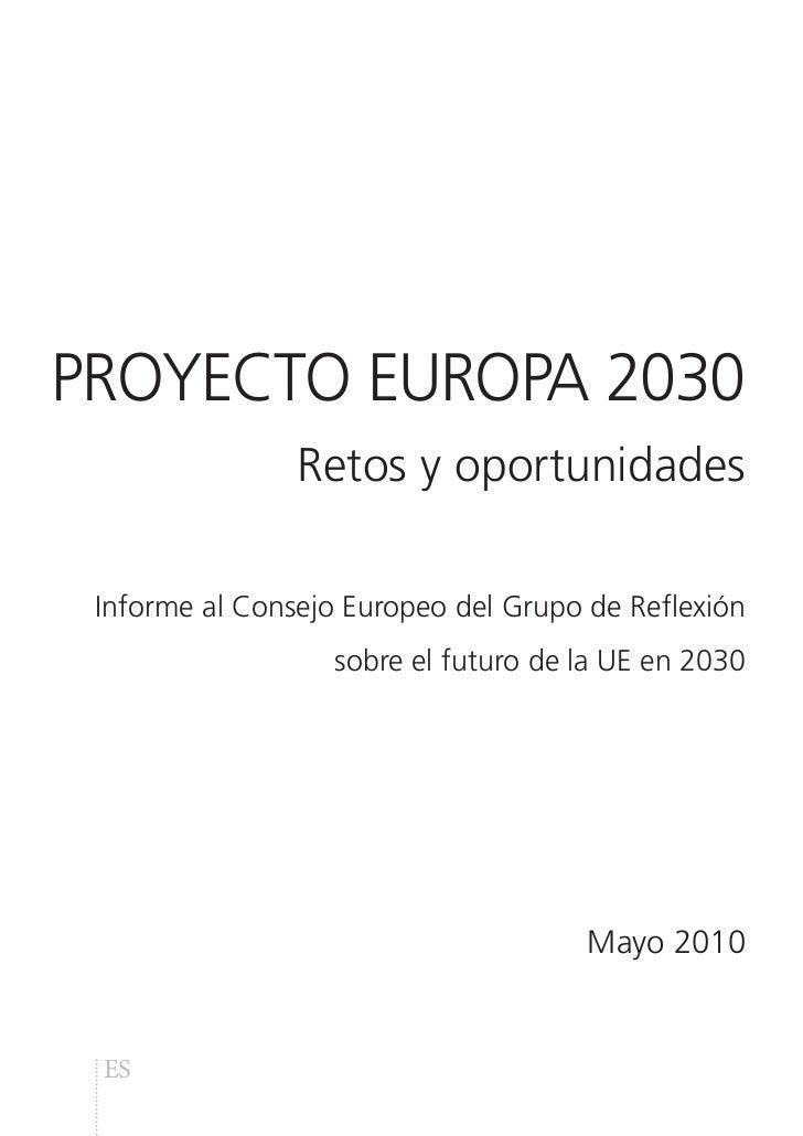PROYECTO EUROPA 2030: Retos y oportunidades
