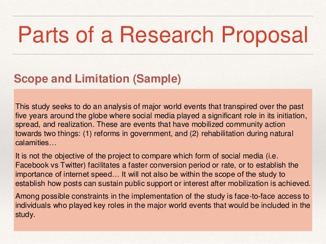 scope and delimitation in research sample