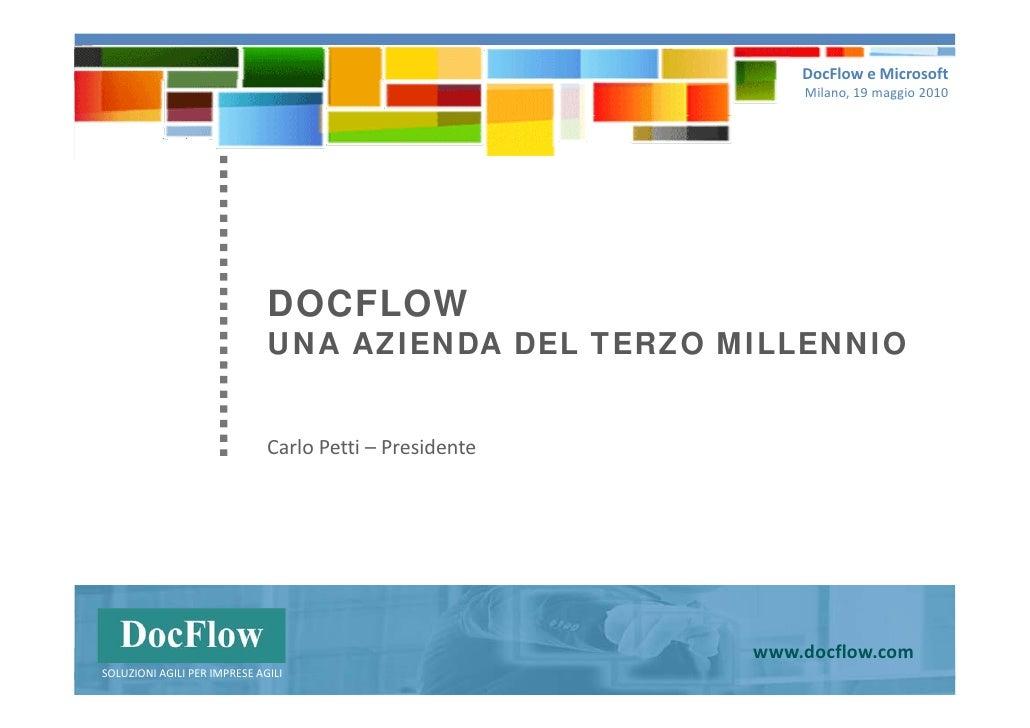 DOCFLOW: un'azienda del terzo millennio