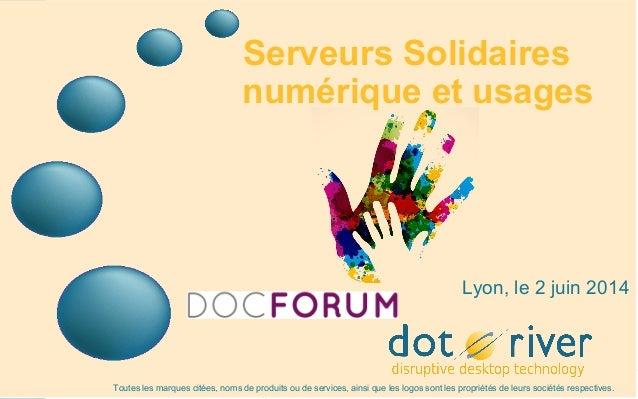 « Le numérique ce n'est pas exclusif  » Docforum Lyon 140602