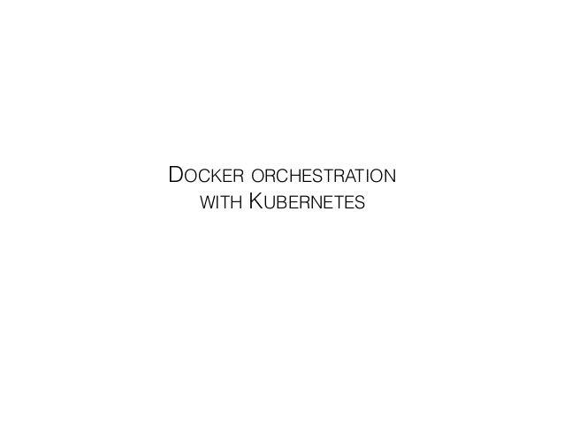 Samuel ROZE DOCKER ORCHESTRATION  WITH KUBERNETES