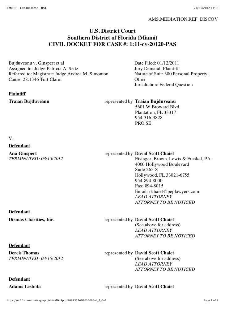 CM/ECF - Live Database - flsd                                                                                    21/03/201...