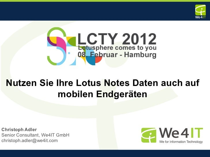 docLinkr: Nutzen Sie Ihre Lotus Notes Daten auch auf mobilen Endgeräten (We4IT)