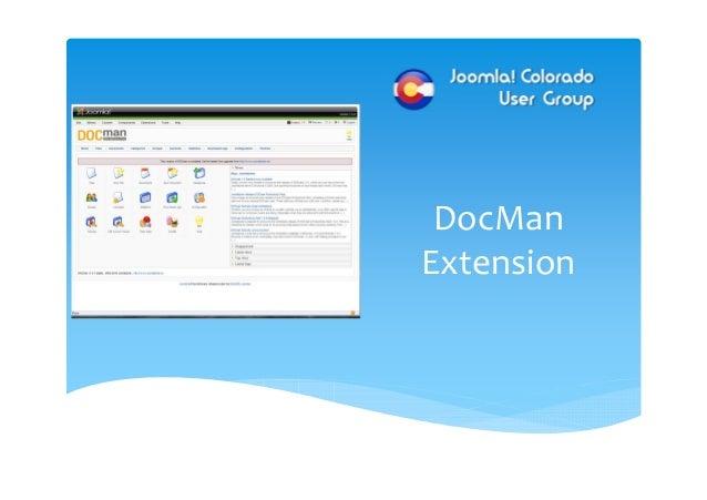 DOCman:  Front-End Configuration