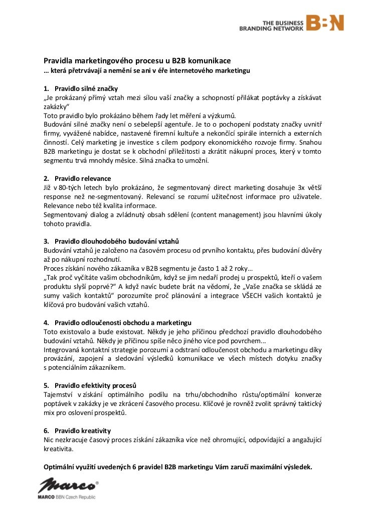6 pravidel marketingového procesu u B2B komunikace
