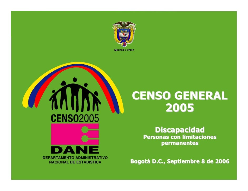Información de discapacidades en Colombia Censo 2005