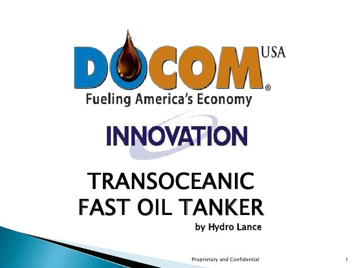 DocomUSA Innovation - Super Fast Tanker