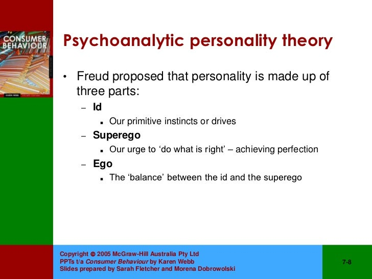 an examination of the personality theory by freud Cludes with an examination of the concept of self according to freud, personality is formed as the ment of freud's theory of psychoanalysis.