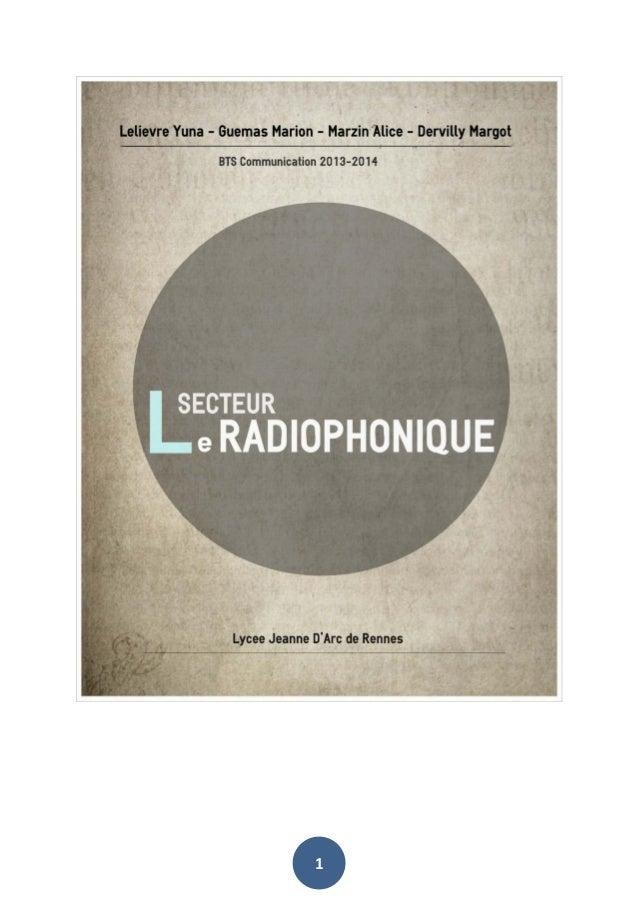 Analyse du secteur radiophonique