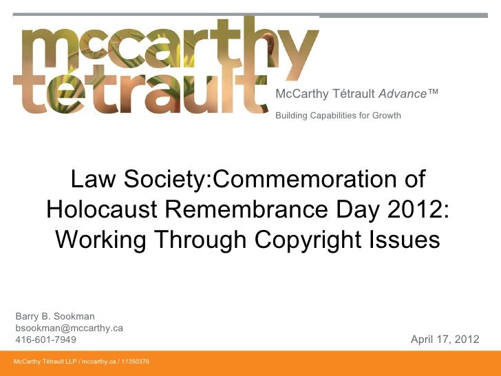 McCarthy Tétrault Advance™                                                 Building Capabilities for Growth            Law...