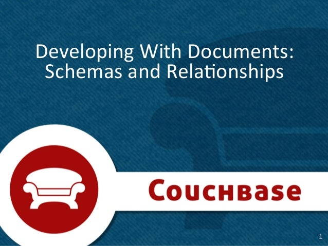 Developing With Documents:  Schemas and Rela8onships                                        1 1