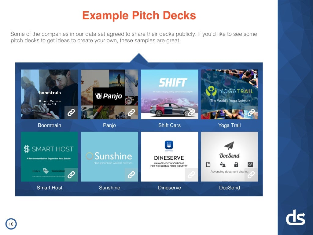 Example Pitch Decks Some of