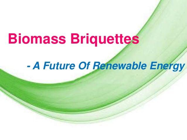 Biomass Briquettes - A Future Of Renewable Energy  Page 1