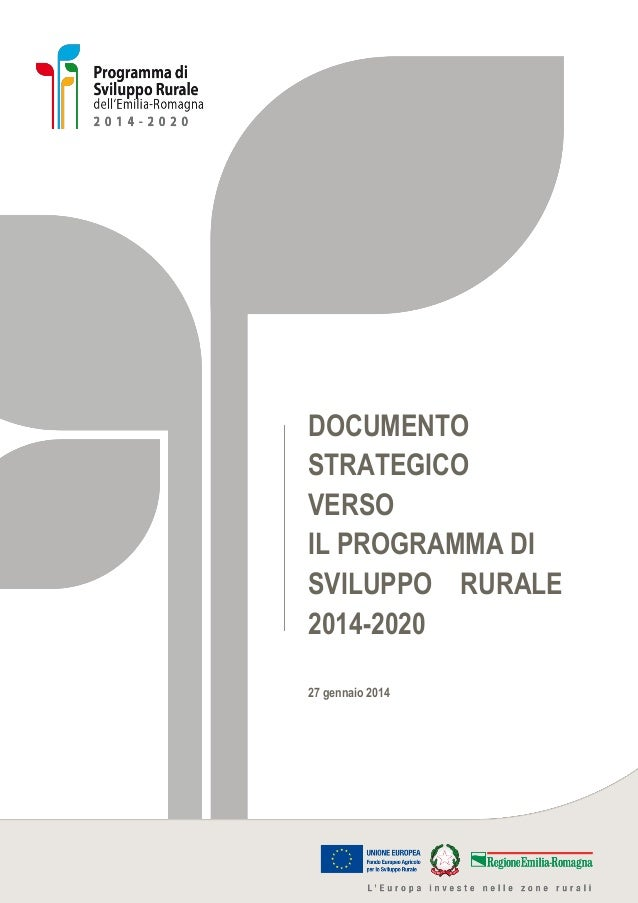 Documento strategico PSR 2014-2020 dell'Emilia-Romagna