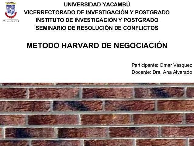 UNIVERSIDAD YACAMBÚ VICERRECTORADO DE INVESTIGACIÓN Y POSTGRADO INSTITUTO DE INVESTIGACIÓN Y POSTGRADO SEMINARIO DE RESOLU...
