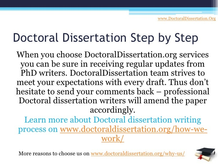Doctoral dissertation writing service your