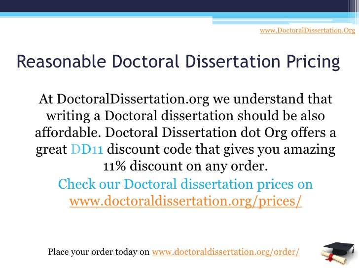 Doctoral Dissertation Writing Services