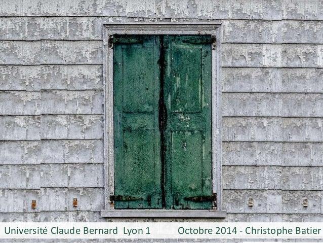 Université Claude Bernard Lyon 1 Octobre 2014 - Christophe Batier