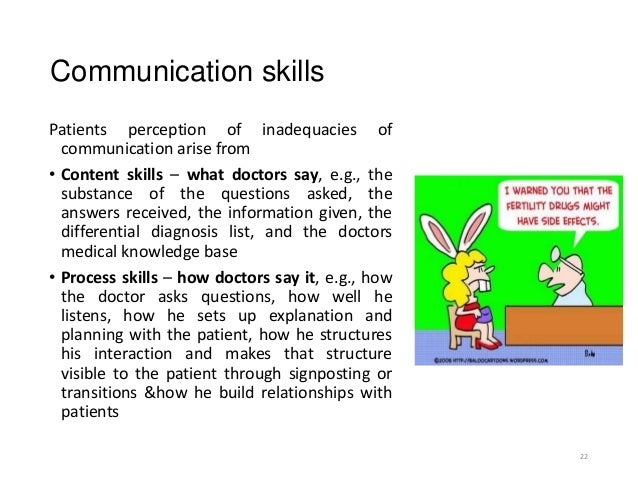 Doctor patient communication skils dissertation