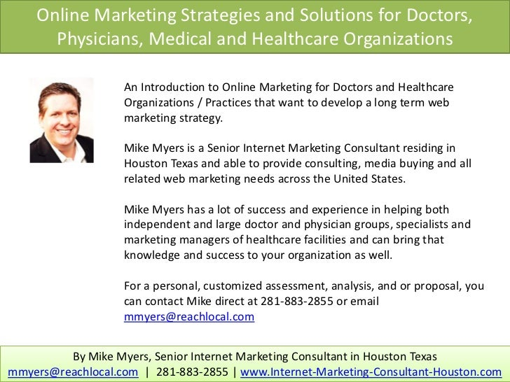 Online Marketing Strategies and Solutions for Doctors,      Physicians, Medical and Healthcare Organizations              ...