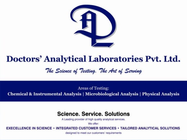 Doctors Analytical Laboratories Pvt Ltd   presentation pharma & food services