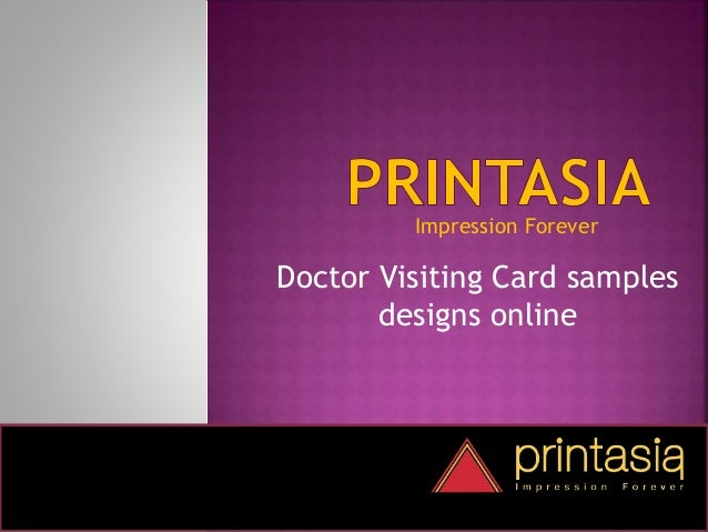 Doctor Visiting and Business Cards | Printasia.in