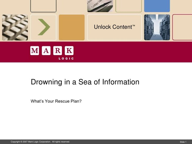 Drowning in a Sea of Information… What's Your Rescue Plan?