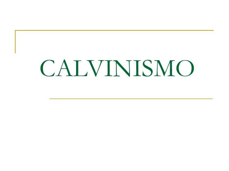 Doctrina calvinista