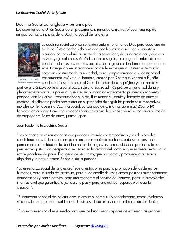 La Doctrina Social de la IglesiaDoctrina Social de la Iglesia y sus principiosLos expertos de la Unión Social de Empresari...