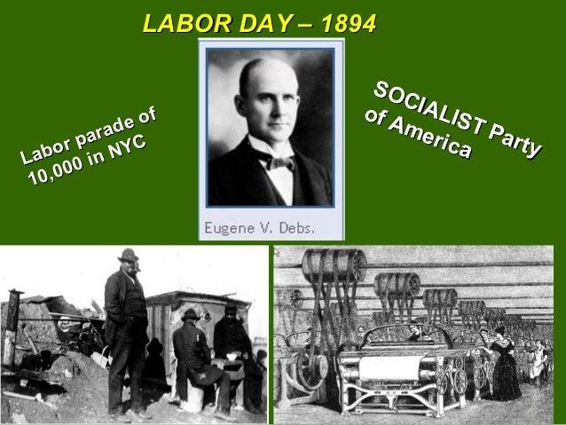 LABOR DAY – 1894                              SO                                 CI A            e of                     ...