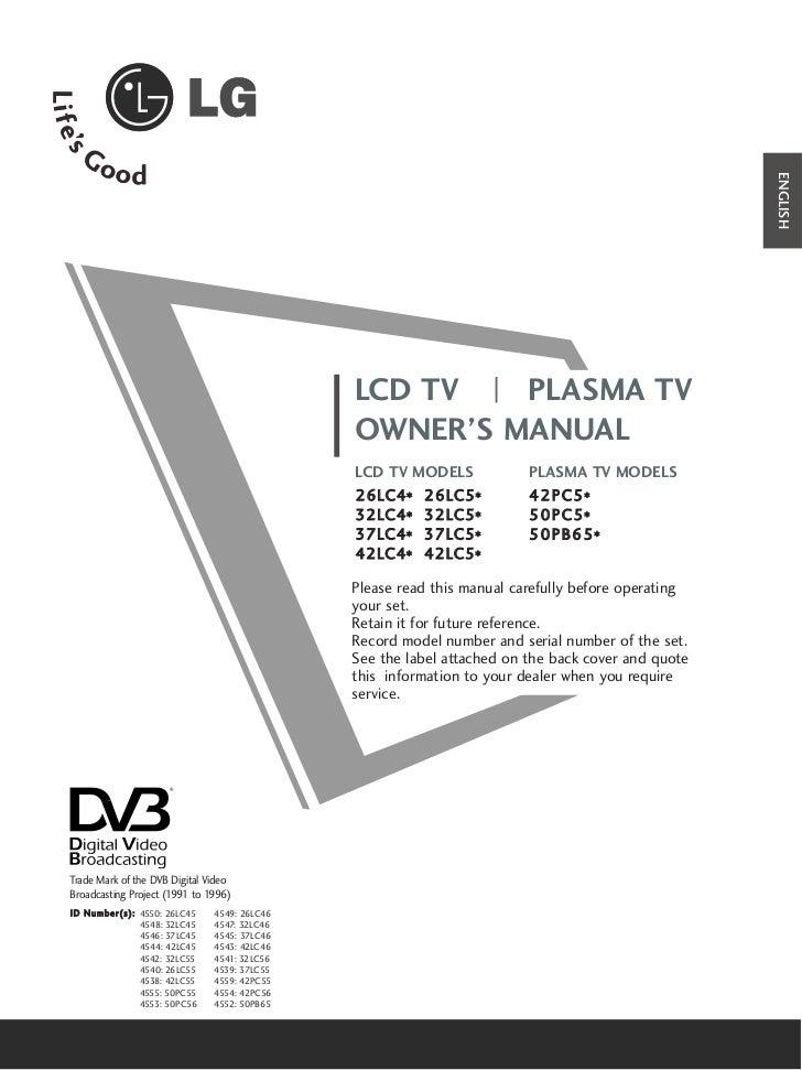 ENGLISH                                                      LCD TV   PLASMA TV                                           ...