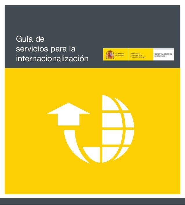 Guía de servicios para la internacionalización