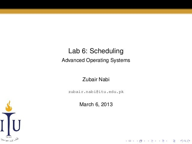 AOS Lab 6: Scheduling