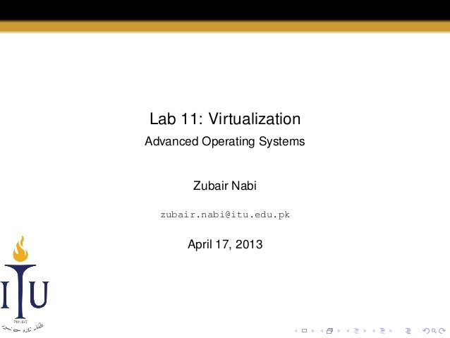 AOS Lab 11: Virtualization