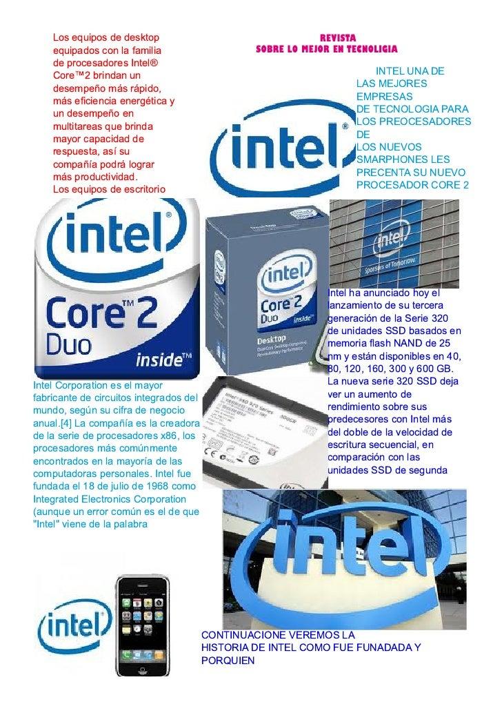 Los equipos de desktop                                    REVISTA    equipados con la familia                      SOBRE L...