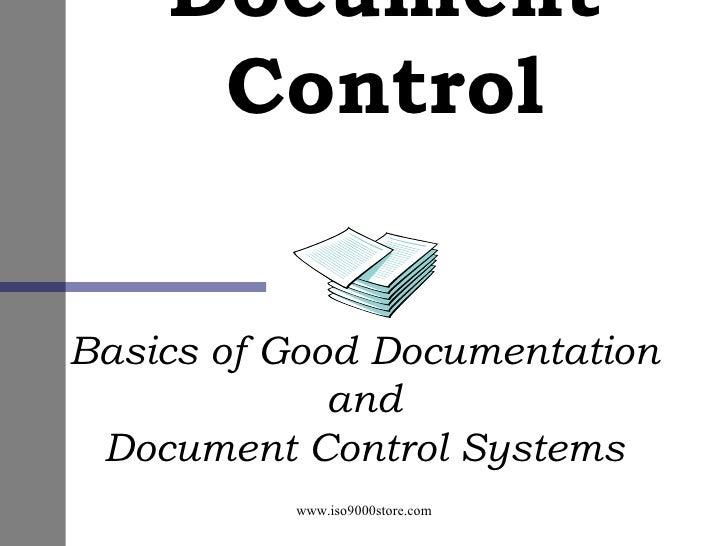 Document Control