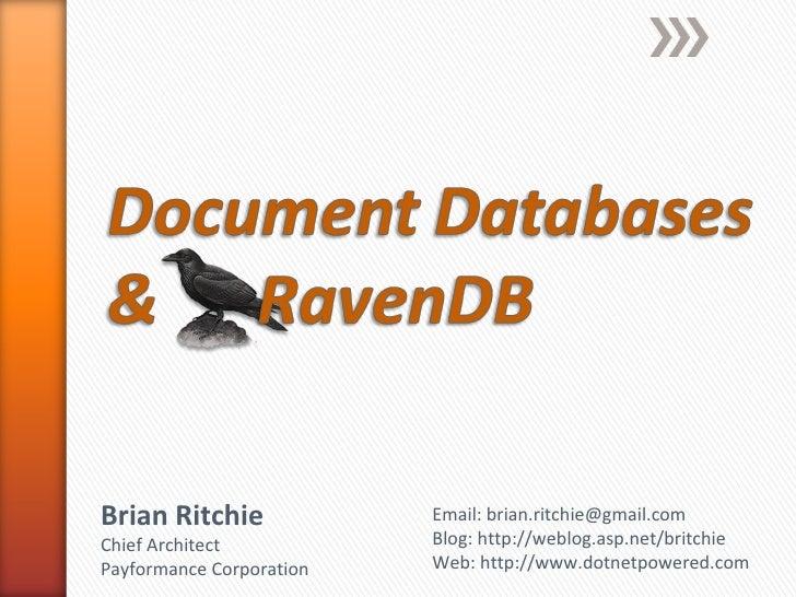 Document Databases & RavenDB