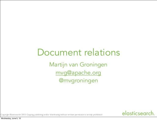 Document relations - Berlin Buzzwords 2013